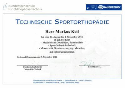 Sport Orthopädietechnik Keil